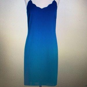 Scalloped cobalt blue dress